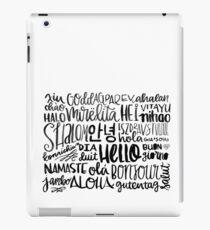 Hello - Languages iPad Case/Skin