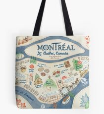 Map of Montreal, Canada Tote Bag