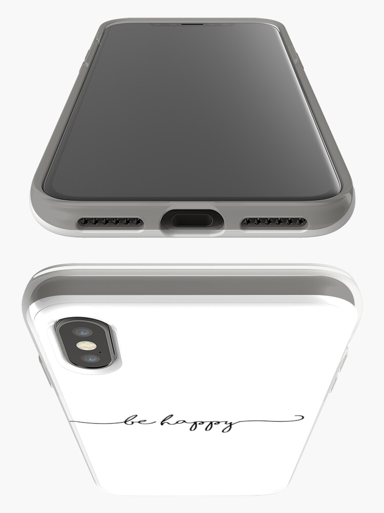 Alternate view of Be Happy Script iPhone Case & Cover