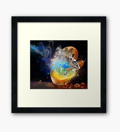 Cosmic Hatch II Framed Print