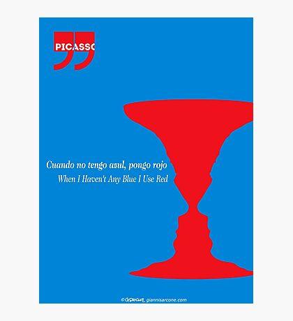 Pablo Picasso Quote Photographic Print