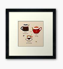 The Golden Tea-o Framed Print