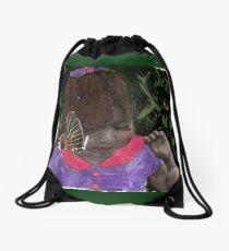Butterfly Kisses (my Niece Alexandra) Drawstring Bag