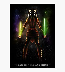 "Ahsoka Tano - ""I Can Handle Anything"" Photographic Print"