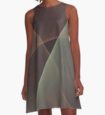 #Fractal Art Lines A-Line Dress