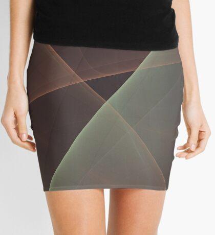 #Fractal Art Lines Mini Skirt