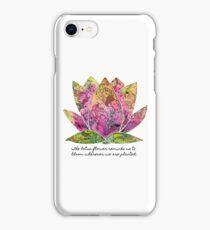 Lotus Flower Inspiring Quote iPhone Case/Skin
