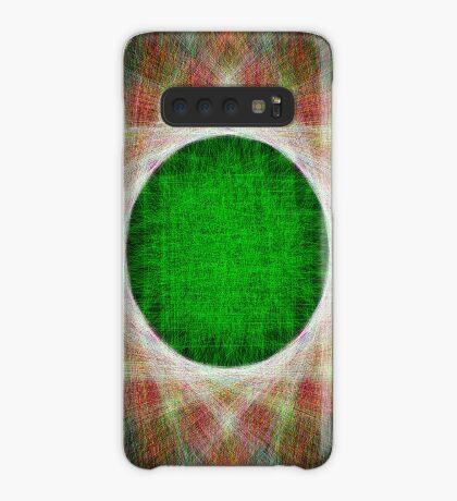 Green Button Planet Case/Skin for Samsung Galaxy