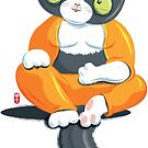 Cat in Buddha Position by GraficBakeHouse