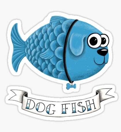 Dog Fish Sticker
