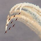 Diamond Nine, RAF Cosford air show, England by Cliff Williams