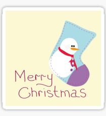 Greeting card with Christmas Sticker