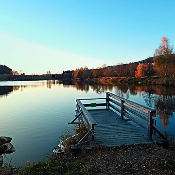 Indian summer sunset at the fishing lake II   waterscape photography by patrickjobst
