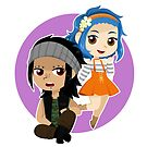 Chibi FT: Gajeel & Levy by artsy-alice