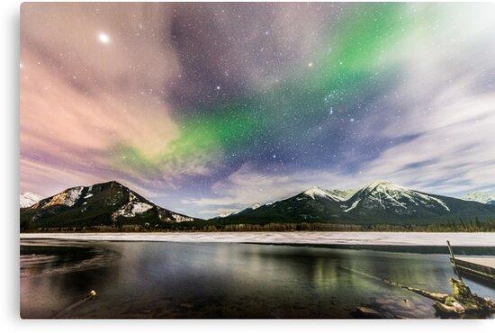 Banff Northern Lights by Luke Baker