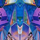 Reflected Blue Mirror Abstract I by Hugh Fathers