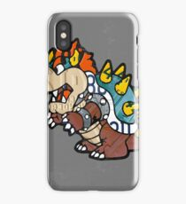 Bowser from Super Mario Brothers Nintendo Recycled License Plate Art Portrait iPhone Case/Skin
