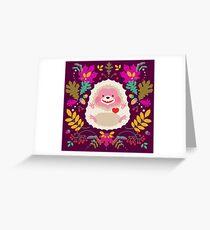 Tarjeta de felicitación Hedgehog LOVE