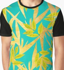 Gold & Teal Florals #redbubble #lifestyle Graphic T-Shirt