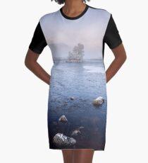 Glencoe Misty Winter Sunrise Graphic T-Shirt Dress