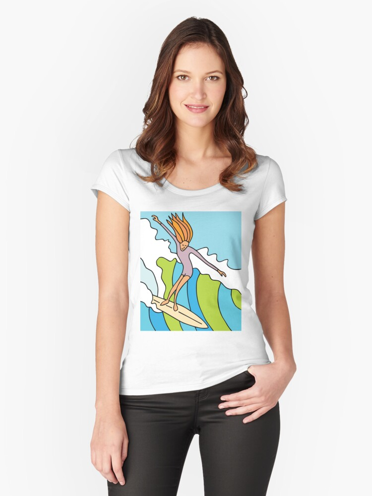 Take the drop! Women's Fitted Scoop T-Shirt Front