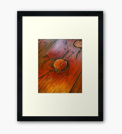 iWood Knot Miss This. Framed Print