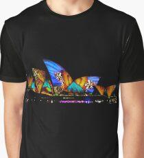 Vivid Sydney Opera House Graphic T-Shirt