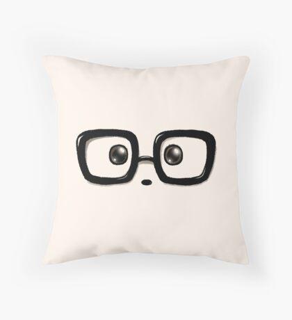 Geek Chic Panda Eyes Throw Pillow