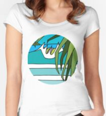 Pandanus Peak Women's Fitted Scoop T-Shirt