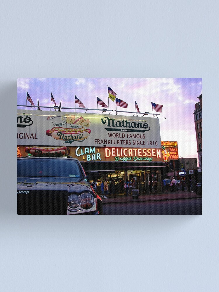 Alternate view of Nathan's Famous Canvas Print