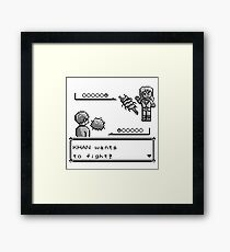 Khan Wants to Fight! Framed Print