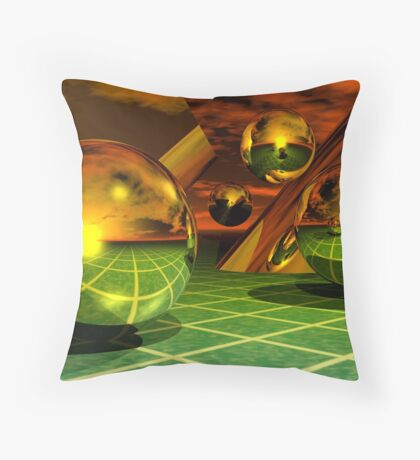 Noble Metal Worlds Throw Pillow