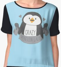 Crazy penguin Lady Banner Chiffon Top