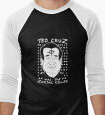 Ted Cruz Zodiac Killer Men's Baseball ¾ T-Shirt