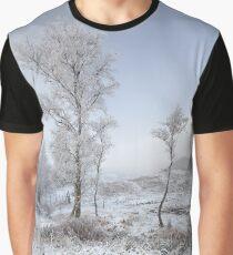 Glen Shiel Misty Winter Trees Graphic T-Shirt