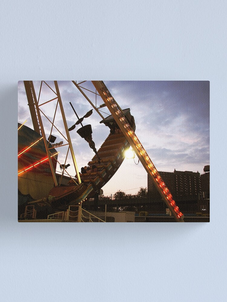 Alternate view of The Pirate Ship at Astroland  Canvas Print
