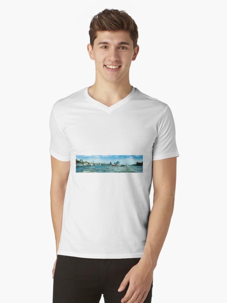 hamburger hafen 01 Mens V-Neck T-Shirt Front