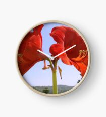 Larger than Life Orange Amaryllis Lilly Clock