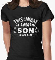 This Is What An Awesome Son Looks Like Women's Fitted T-Shirt