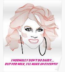 Courtney Act - Milk Poster