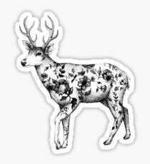 Flower Deer Sticker
