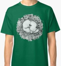 Fox Sleeping in Flowers Classic T-Shirt