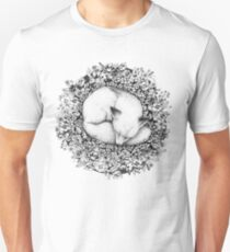 Fox Sleeping in Flowers Unisex T-Shirt