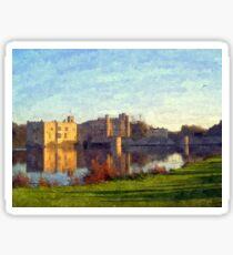 Leeds Castle , Kent , a painted scene   Sticker