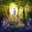 Faerie Child Gathering Berries by gingerkelly