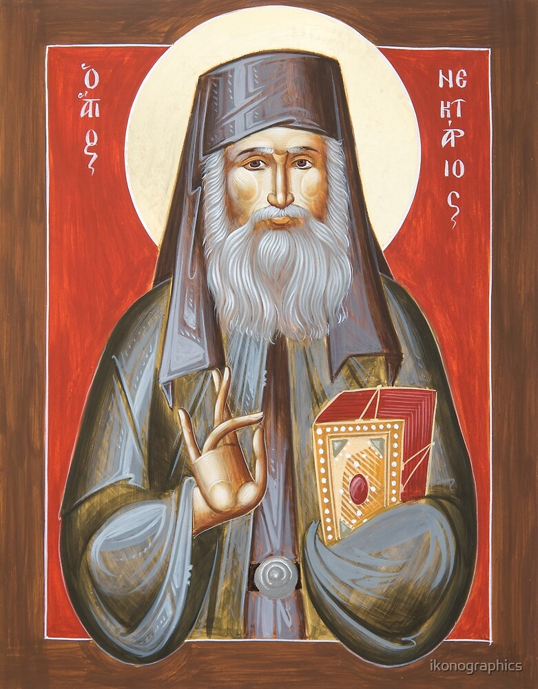 St Nektarios of Aegina by ikonographics