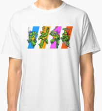 TMNT Turtles in Time Characters Classic T-Shirt