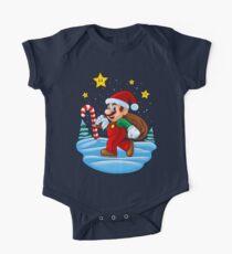 Mario Xmas Short Sleeve Baby One-Piece