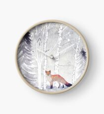 WINTER FOX by Monika Strigel Clock
