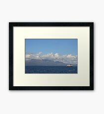 MV Caledonian Isles approaching Arran Framed Print